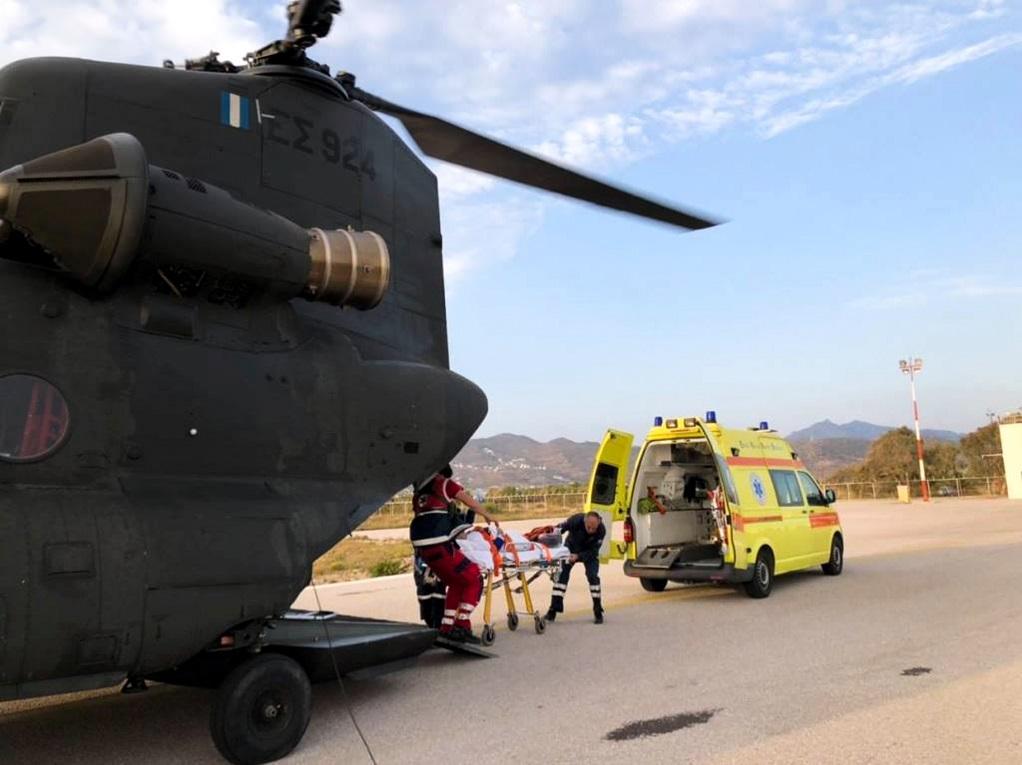 Διακομιδή 25 ασθενών από ελικόπτερα της Αεροπορίας Στρατού τον Οκτώβριο