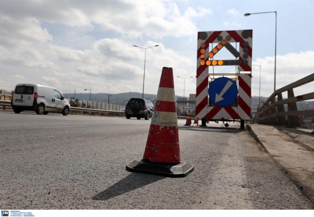 Εργασίες συντήρησης στην Επαρχιακή οδό Θεσσαλονίκης και στην Παλαιά Εθνική οδό