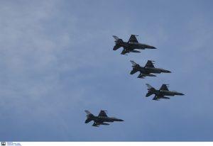 Πάνω από τη Βόρεια Μακεδονία τα πρώτα ελληνικά πολεμικά αεροσκάφη