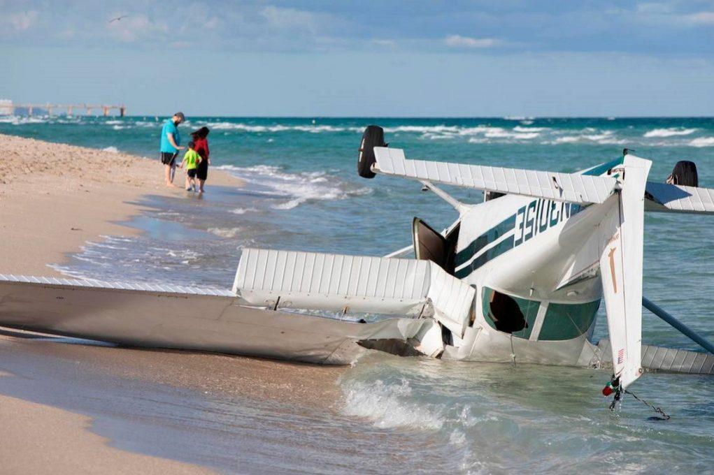 Τέσσερις τραυματίες από πτώση αεροσκάφους στο Μαϊάμι (VIDEO)