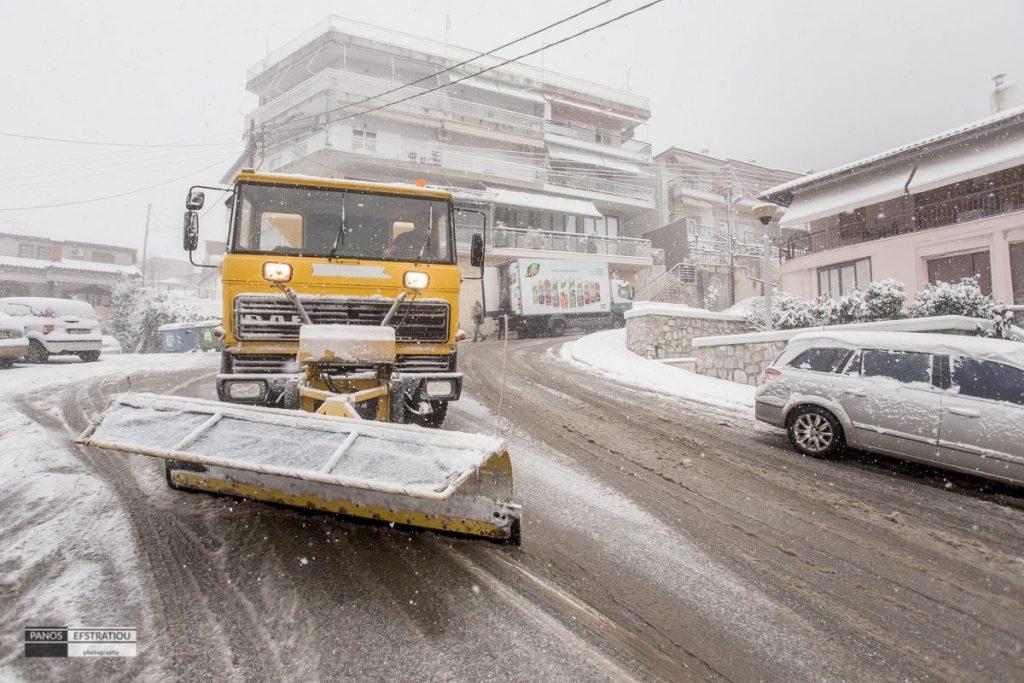 3.500 τόνοι αλάτι έπεσαν στο οδικό δίκτυο της Κεντρικής Μακεδονίας