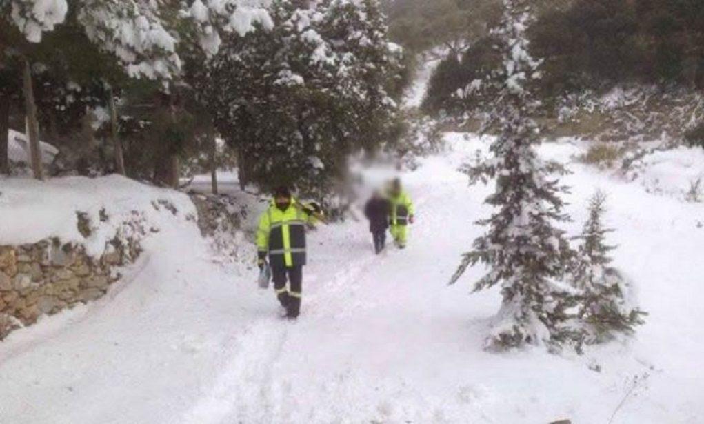 Τραγωδία στο Καρπενήσι- Νεκρή γυναίκα που εγκλωβίστηκε στο χιόνι