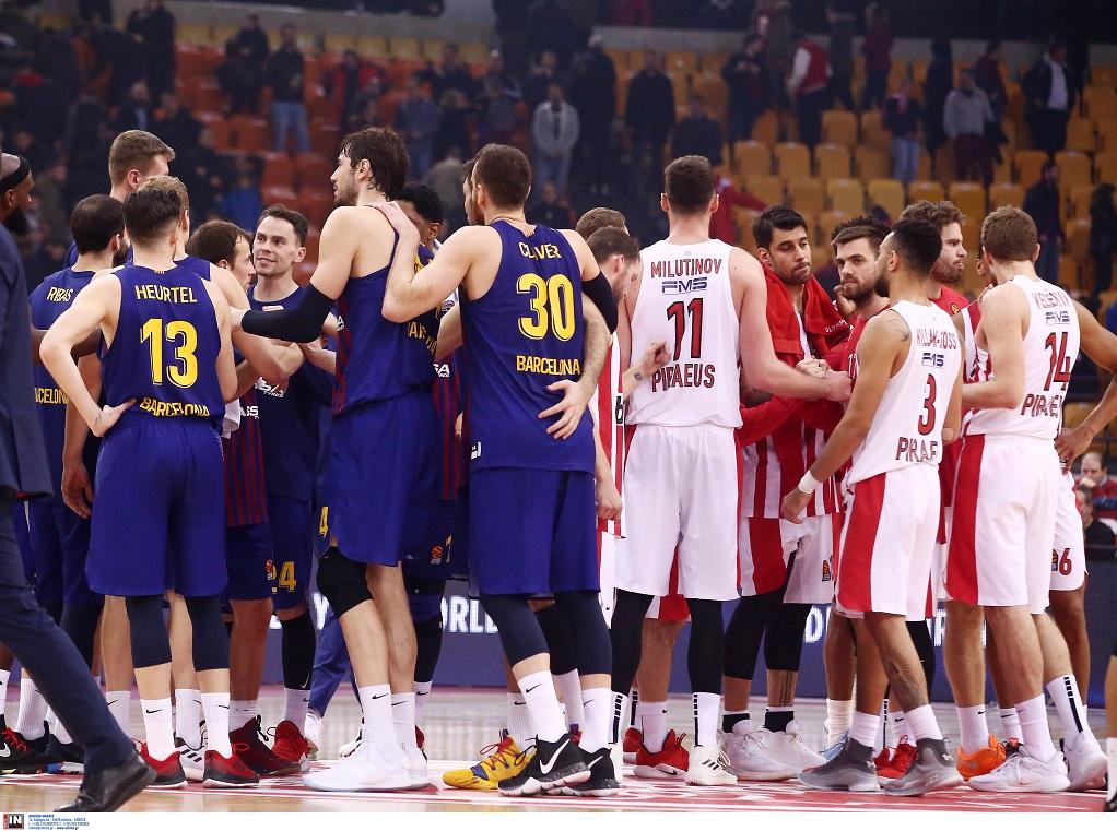 Euroleague: Κακός ο Ολυμπιακός, ηττήθηκε από την Μπαρτσελόνα με 55-76