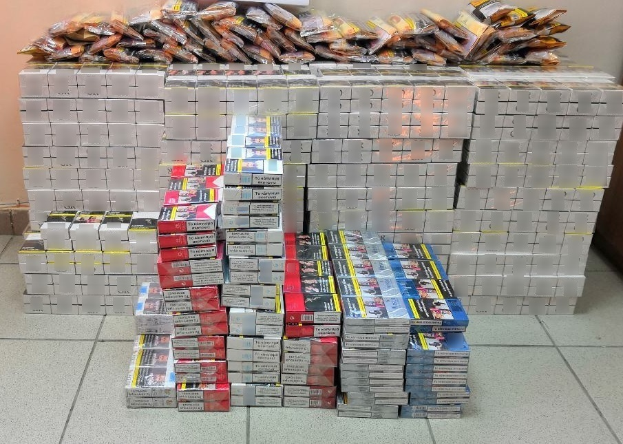 Κατασχέθηκαν πάνω απο 180.000 λαθραία πακέτα τσιγάρων