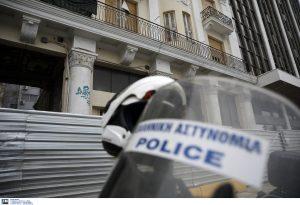 Συγκέντρωση αστυνομικών έξω από το υπουργείο Προστασίας του Πολίτη