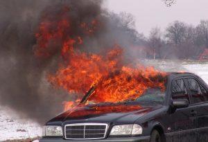Θεσσαλονίκη: Κάηκε ολοσχερώς ΙΧ στα Διαβατά