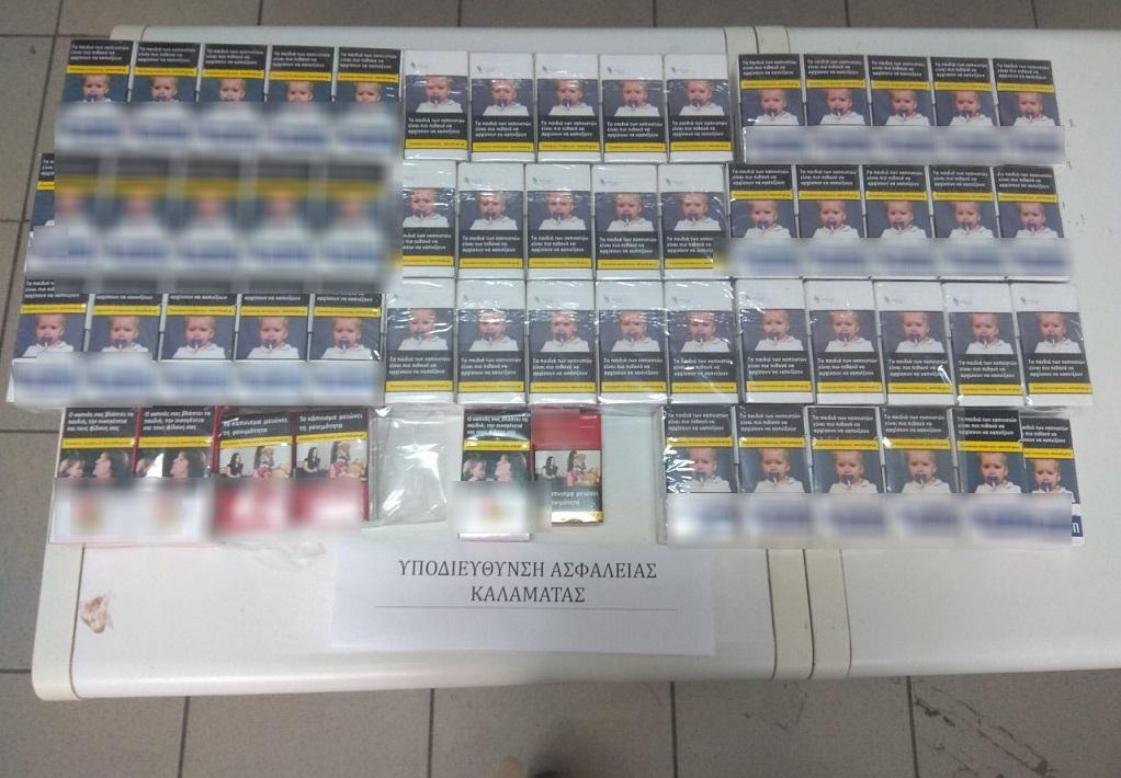Συνελήφθησαν στη Μεσσηνία -Κατασχέθηκαν πάνω απο 100 πακέτα με λαθραία τσιγάρα