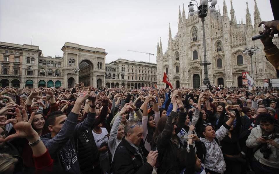 Μεγάλη συγκέντρωση κατά του ρατσισμού στο Μιλάνο