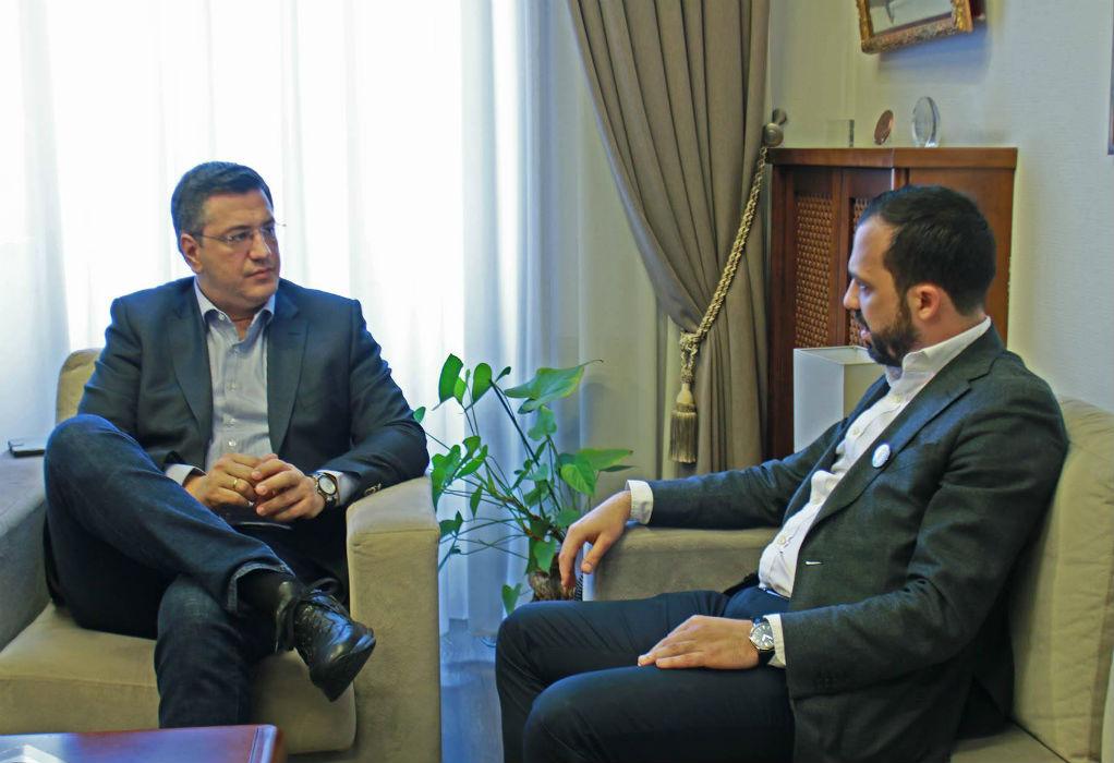 Με τον Περιφερειάρχη Κεντρικής Μακεδονίας συναντήθηκε ο Μάκης Κυριζίδης