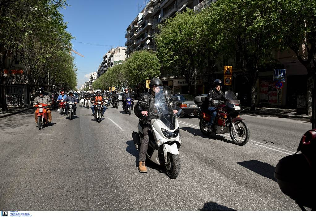Μοτροπορεία απο τους διανομείς στη Θεσσαλονίκη (ΦΩΤΟ)
