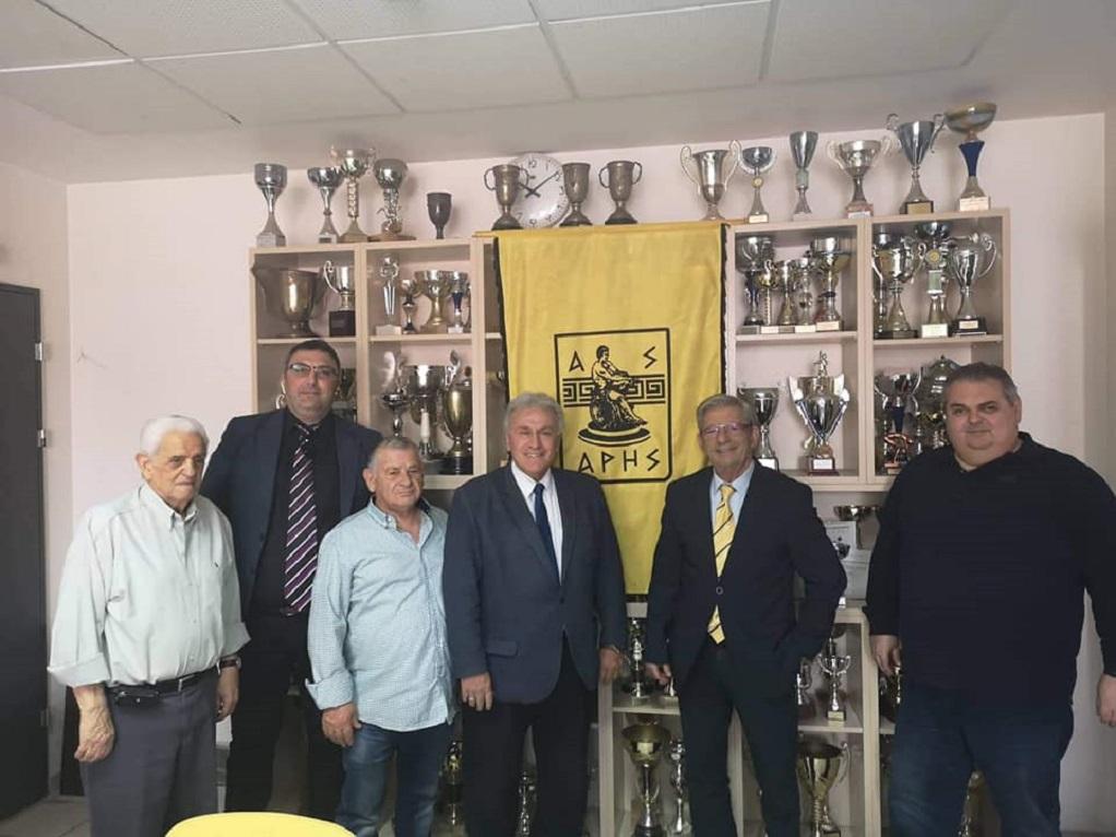 Ο Π. Ψωμιάδης συναντήθηκε με τον Πρόεδρο του ΑΣ Άρη