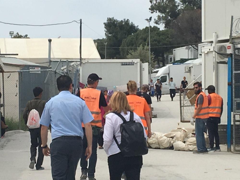 Στη Λέσβο και στις δομές φιλοξενίας προσφύγων η Kαλυψώ Γούλα