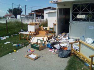 Κατέστρεψαν το νηπιαγωγείο στον οικισμό ρομά «Αγία Σοφία» του δήμου Δέλτα (ΦΩΤΟ)