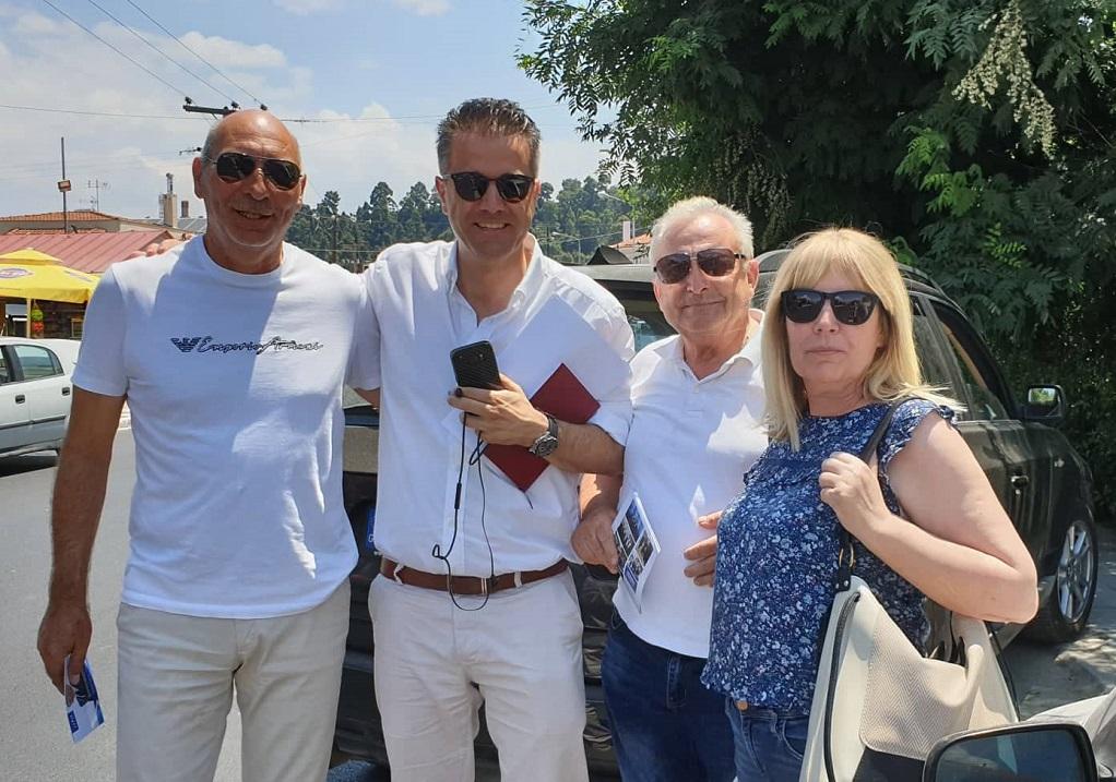 Συνεχίζεται η περιοδεία Τάσιου στο Δήμο Κασσάνδρας (ΦΩΤΟ)