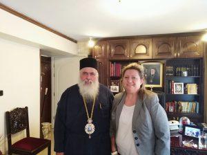 Επίσκεψη Α. Τζαμπαζλή στον Μητροπολίτη Σταυρουπόλεως- Νεαπόλεως Βαρνάβα