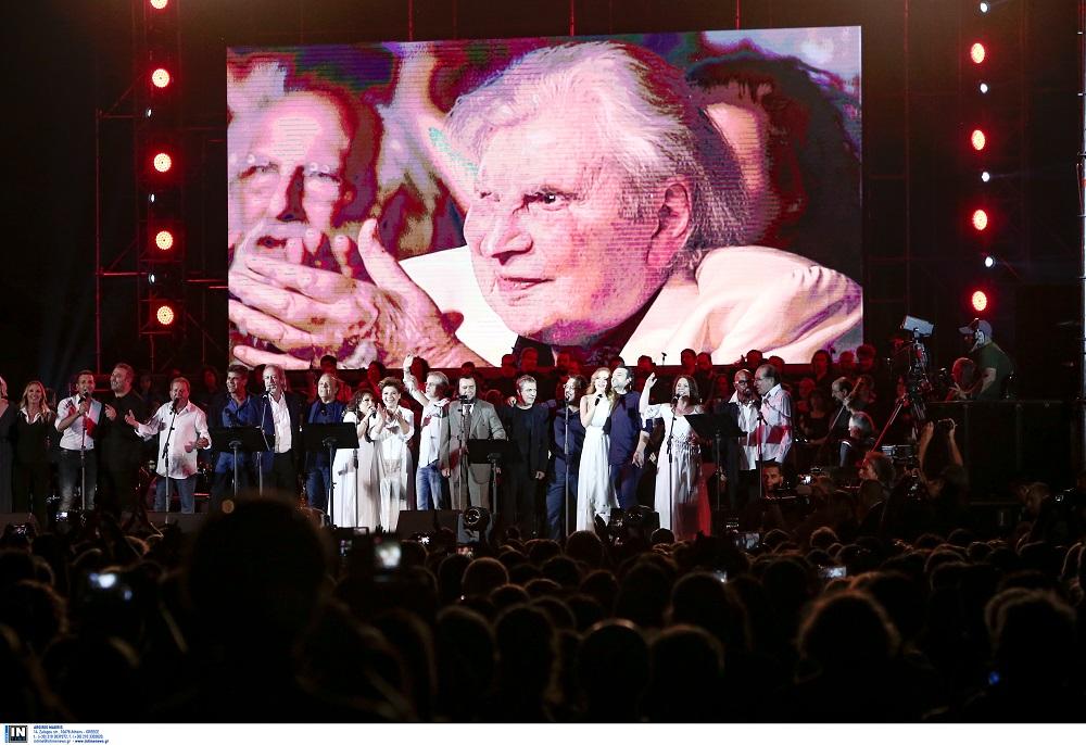 Καλλιμάρμαρο: Ο Μίκης Θεοδωράκης στη μεγάλη συναυλία προς τιμήν του (ΦΩΤΟ)