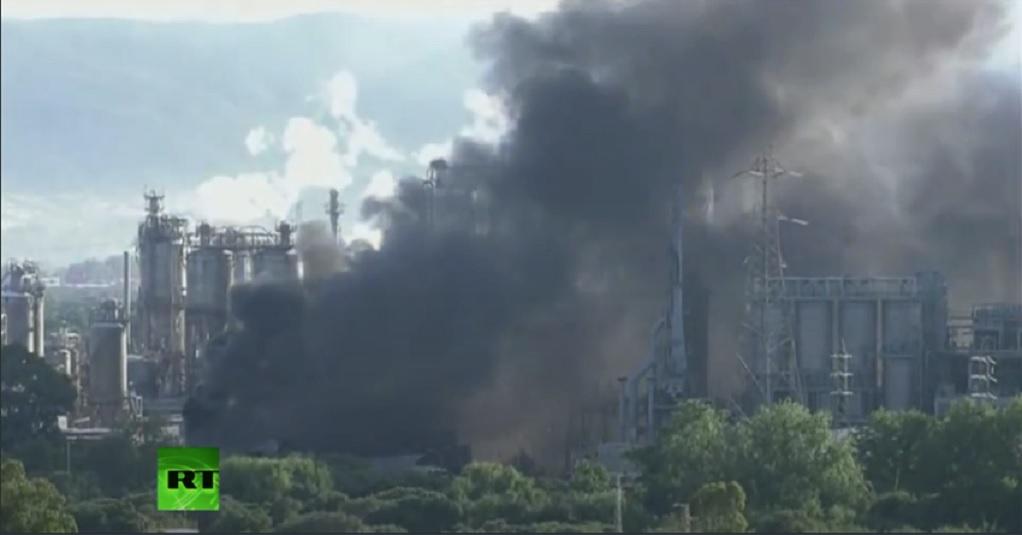 Πυρκαγιά σε εργοστάσιο χημικών προϊόντων (VIDEO-ΦΩΤΟ)