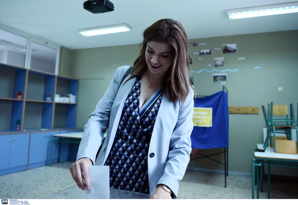 Ψήφισε η Κατερίνα Νοτοπούλου στο Β' Γύρο των εκλογών