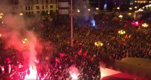 «Ποτέ Βόρεια – Μόνο Μακεδονία» στην υποδοχή της «Βαρντάρ» (VIDEO)