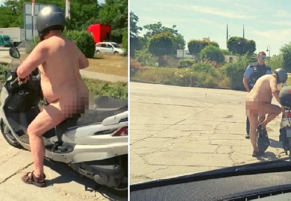 «Εβδομάδα κόλασης» για την Ευρώπη – Γυμνός οδηγός εν μέσω καύσωνα (ΦΩΤΟ)