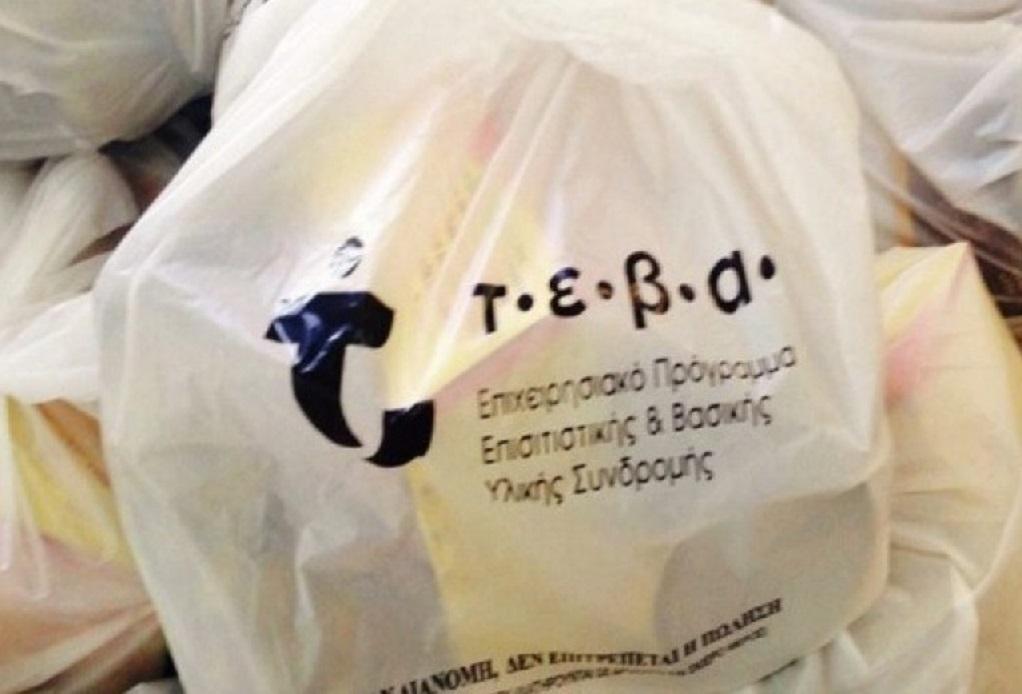 Διανομή προϊόντων σε δικαιούχους ΤΕΒΑ του Δήμου Ν. Προποντίδας