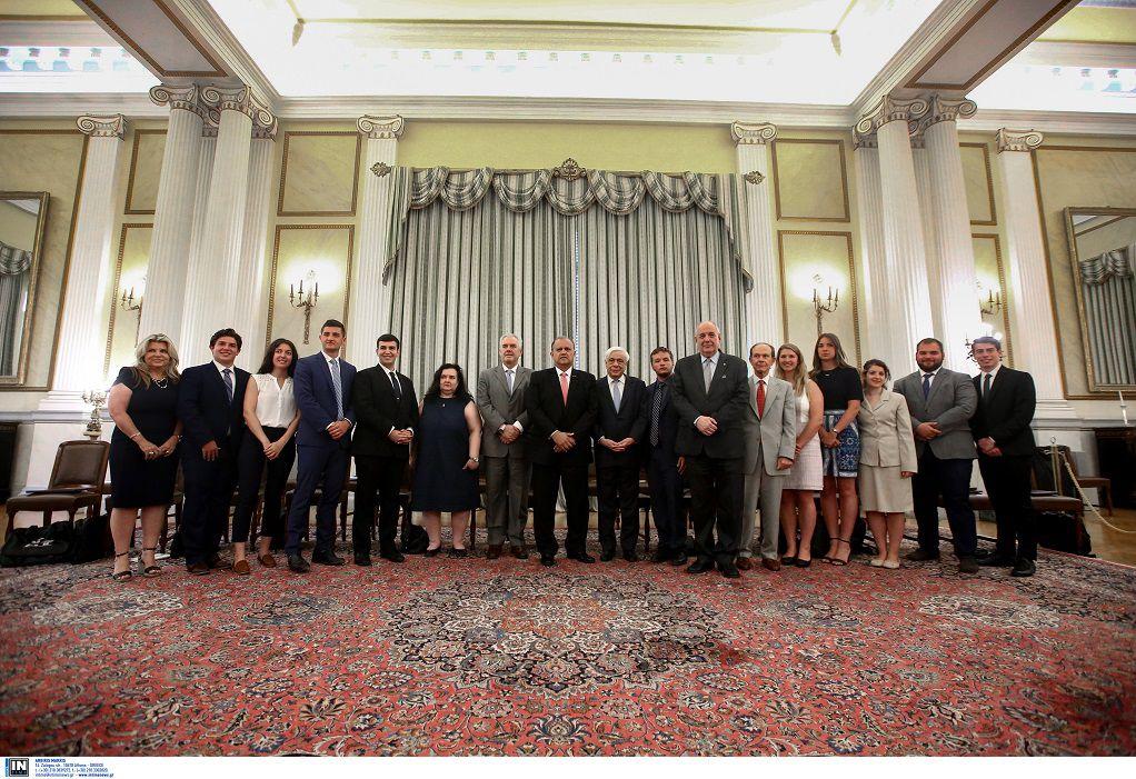 Συνάντηση Παυλόπουλου με ομάδα Ελληνο-Αμερικανών φοιτητών (ΦΩΤΟ)
