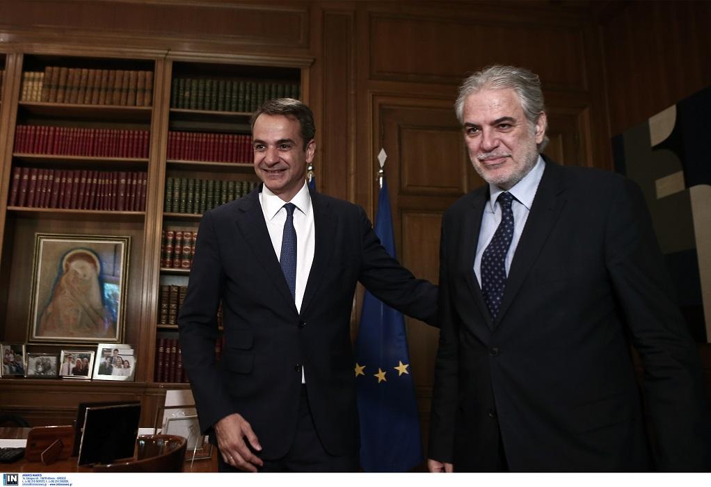 Συνάντηση Μητσοτάκη με τον Κύπριο επίτροπο Χ. Στυλιανίδη (ΦΩΤΟ)
