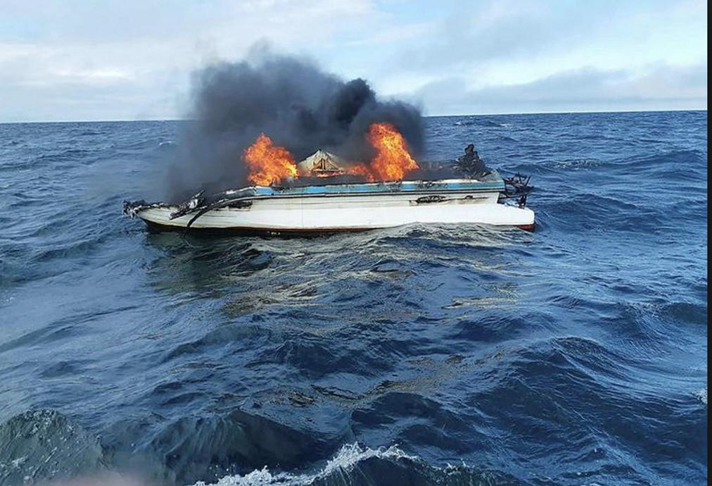 Φωτιά σε σκάφος στον Δήμο Αριστοτέλη