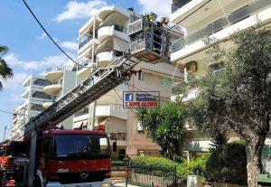Στις φλόγες διαμέρισμα στον Άλιμο – Εκκενώθηκε πολυκατοικία (ΦΩΤΟ)