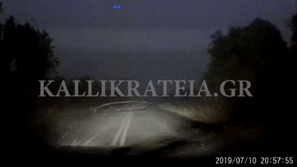 Χαλκιδική: Η στιγμή που ξεκινά η φονική καταιγίδα  (VIDEO)