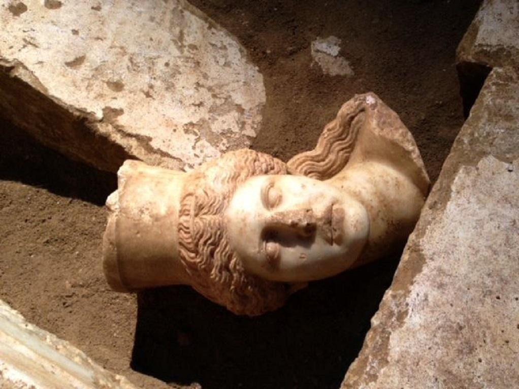 Στο μουσείο Αμφίπολης η κεφαλή της Σφίγγας από τον Τύμβο Καστά