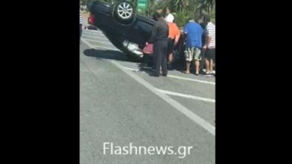 Θανατηφόρο τροχαίο στην Εθνική οδό Ηρακλείου – Ρεθύμνου (VIDEO)