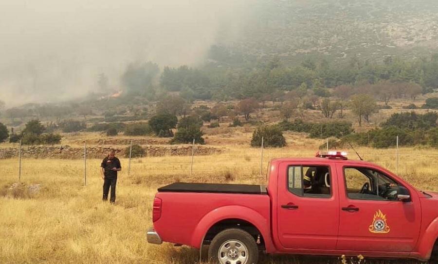 Κάλυμνος: Πυρκαγιά την περιοχή Προφήτης Ηλίας