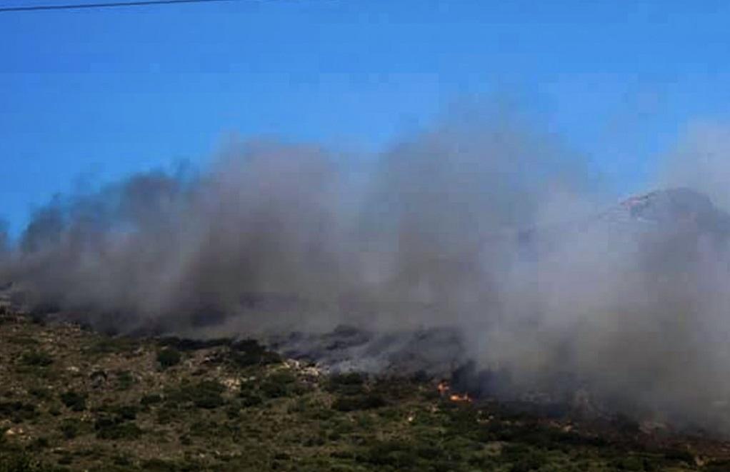 Ζάκυνθος- Υπό μερικό έλεγχο η πυρκαγιά στο χωριό Μαριές