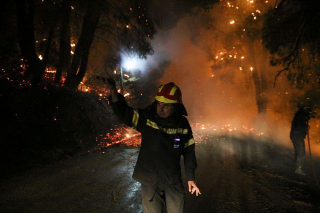 Ψαχνά – Με μπουλντόζες σταμάτησαν την φωτιά προς την πόλη