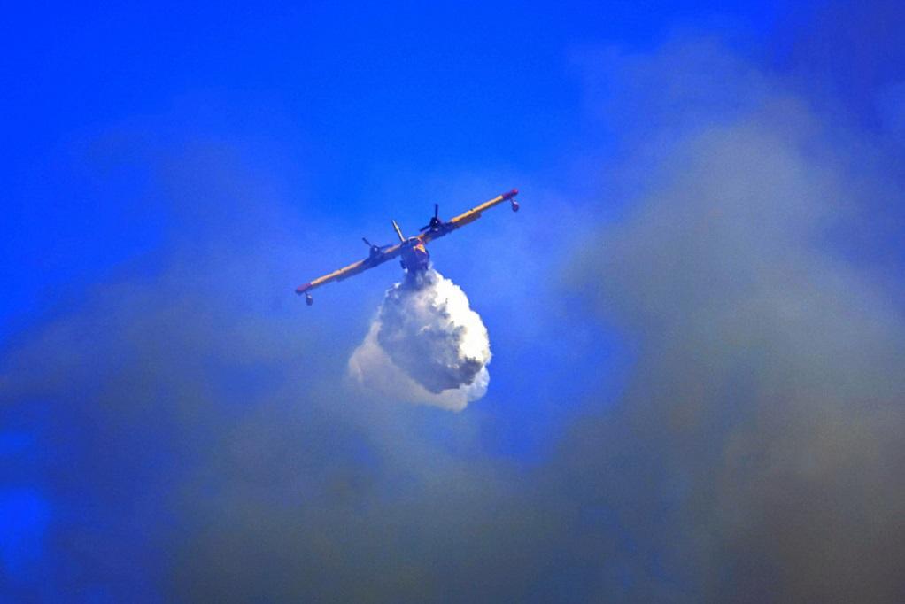 Κύθηρα: Φωτιά σε δασική έκταση στη Φράτσια