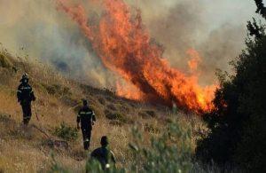 Μεγάλη φωτιά στην Πούντα Ζέζα στο Λαύριο