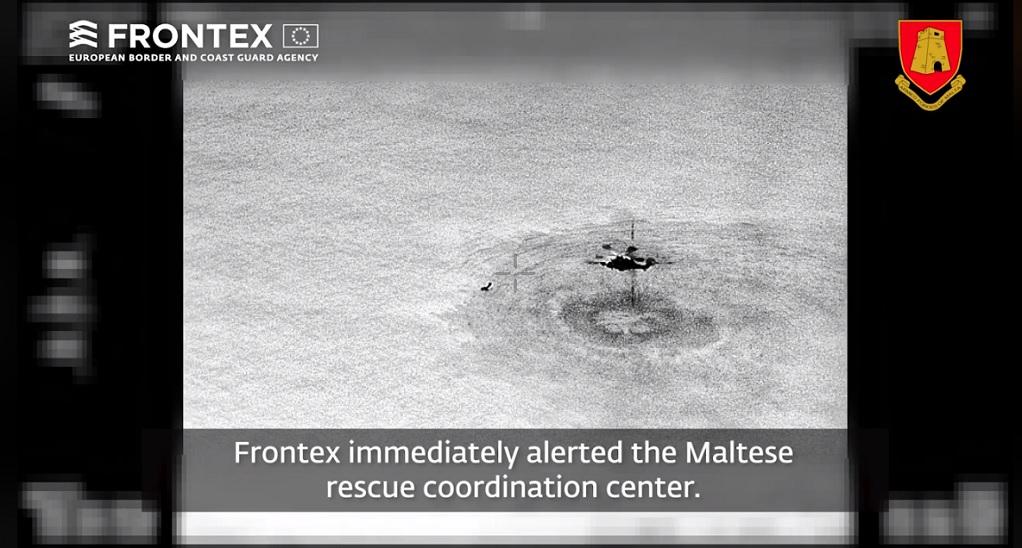Frontex-Διάσωση ατόμων από βάρκα (VIDEO)