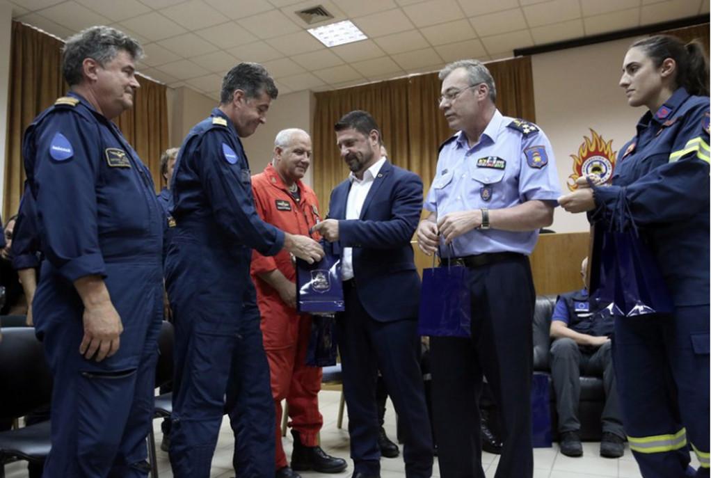 Ευχαριστίες Χαρδαλιά σε Ιταλούς και Ισπανούς πιλότους