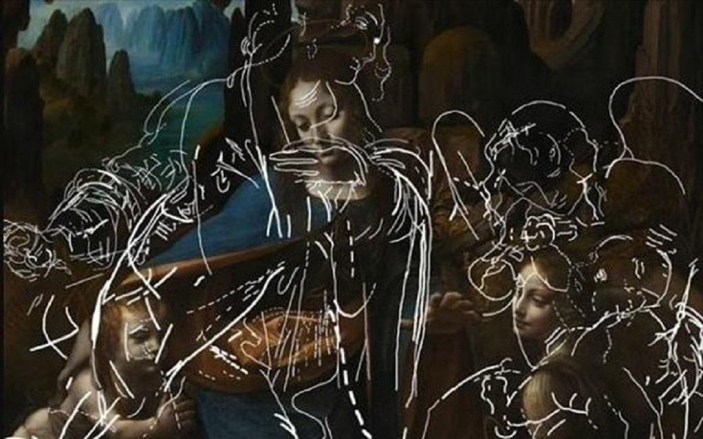 Ανακαλύφθηκαν άγνωστα σκίτσα κάτω από διάσημο πίνακα του Λεονάρντο Ντα Βίντσι