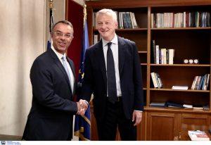 Ολοκληρώθηκε η συνάντηση Σταϊκούρα- Λε Μερ- Τι συζητήθηκε