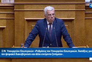 Σ.Σιμόπουλος: Ιδιωτικά κεφάλαια απαιτεί η αξιοποίηση των πρώην στρατοπέδων