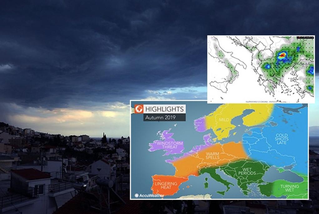 Πρόβλεψη για καταιγίδες και πλημμύρες το φθινόπωρο