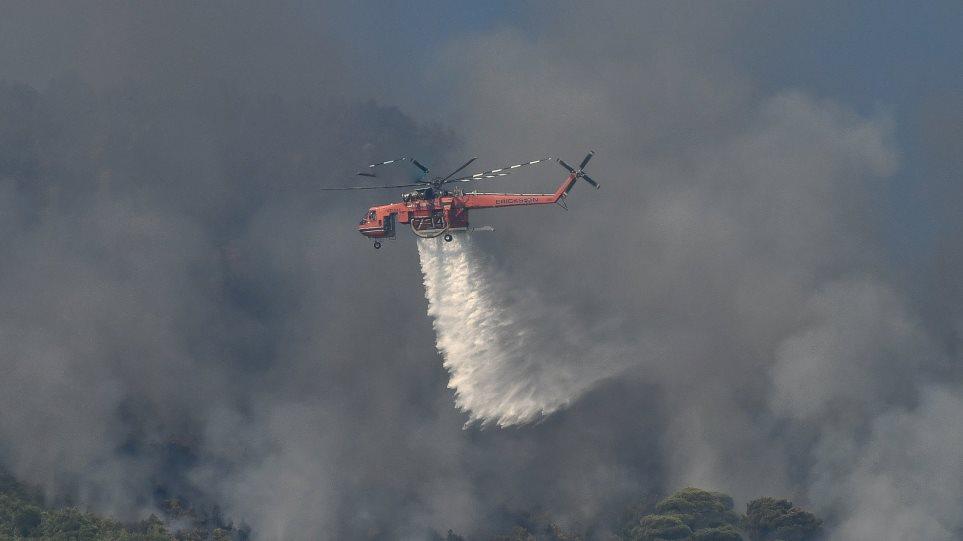 Σε ύφεση η τεράστια πυρκαγιά στο Λουτράκι – Στάχτη χιλιάδες στρέμματα