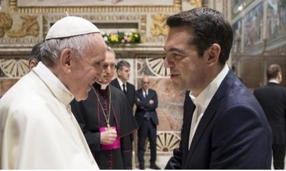 Το «ευχαριστώ» του Αλέξη Τσίπρα στον Πάπα Φραγκίσκο