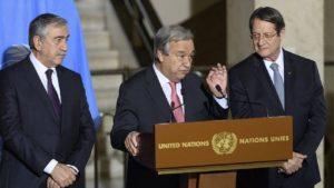 Κυπριακό- Πιθανή η σύγκληση τριμερούς συνάντησης Γκουτέρες- Αναστασιάδη και Ακιντζί