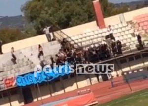 Κύπελλο Ελλάδας: Διακόπηκε προσωρινά, λόγω επεισοδίων αγώνας στον Πύργο (VIDEO)