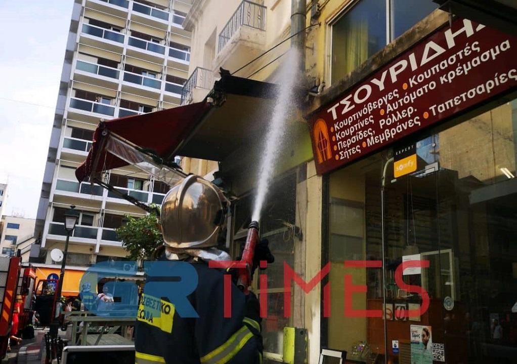 Φωτιά σε ψησταριά στο κέντρο της Θεσσαλονίκης (ΦΩΤΟ-VIDEO)