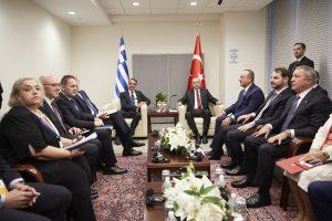 Ολοκληρώθηκε η συνάντηση Μητσοτάκη – Ερντογάν στη Ν. Υόρκη