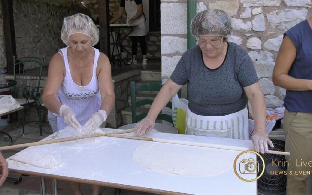 Τρίκαλα: Έφτιαξαν πίτα πέντε μέτρων στη Φαρκαδόνα (ΦΩΤΟ)